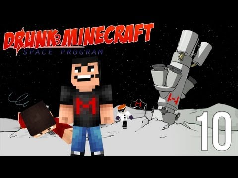 Drunk Minecraft #42 | TO THE MOON!!