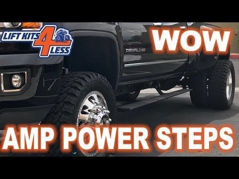 Amp Power Steps 76247-01A 2017-2019 GM/Chevy 2500/3500 Diesel Fits Def Tank Models