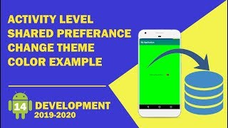 Android tutorial (2019) - 14 - Activity Level Shared Preference Example | Stored & Retrieve the Data