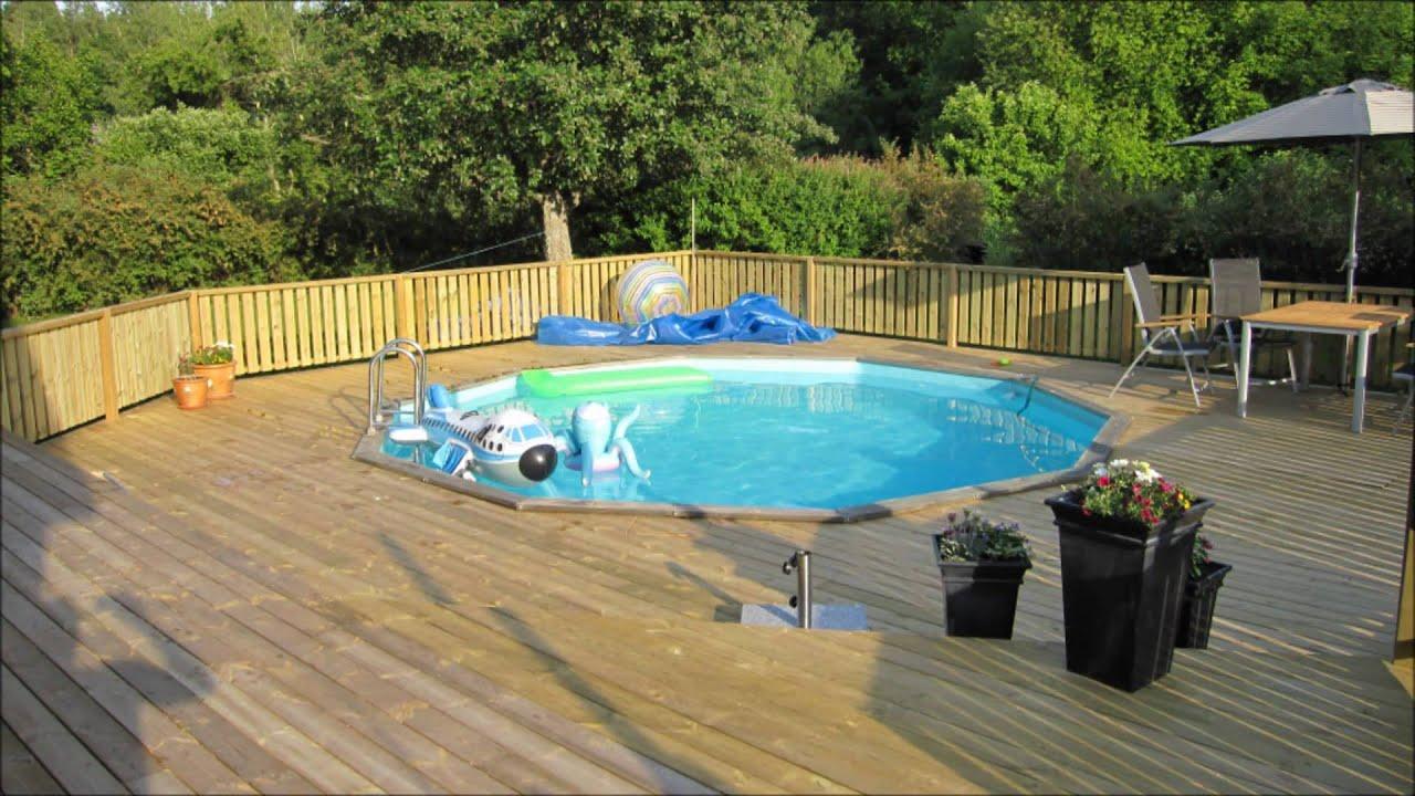 Bygga altan runt pool building pool deck youtube - Pool im boden einlassen ...