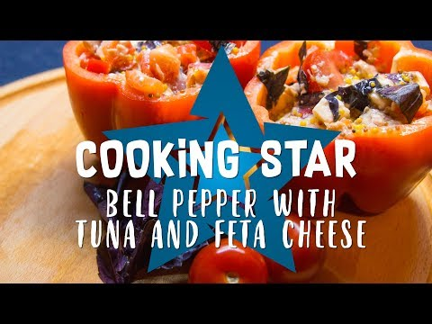 Bell pepper salad with tuna and feta cheese - Cooking Star
