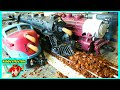 Fun Toy Train Videos For Toddlers Kids Polar Express Run Into Coffee Beans Pile Rebby's PlayTime