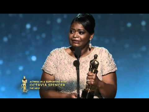 Octavia Spencer Wins Supporting Actress: 2012 Oscars - YouTube