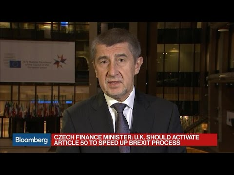 Czech Repubic's Babis: Ready to Negotiate Deal With U.K.