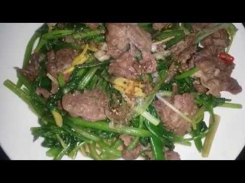 cách làm thịt bò xào cần tây mềm ngon.