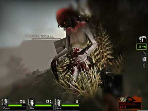 Moe GLaDOS in Left 4 Dead 2 as Witch [MOD Model + Sounds
