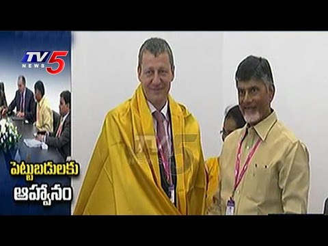AP CM Russia Tour Updates | Chandrababu holds meet with SUN group in Russia | TV5 News