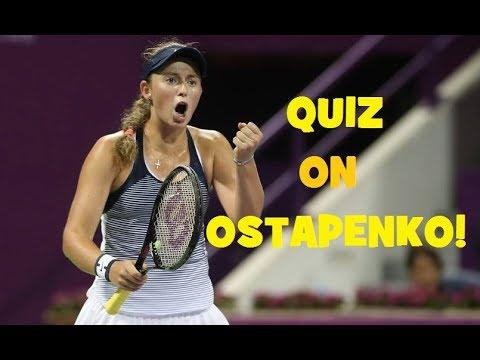 QUIZ on Jelena OSTAPENKO! - Singapore WTA Finals 2017