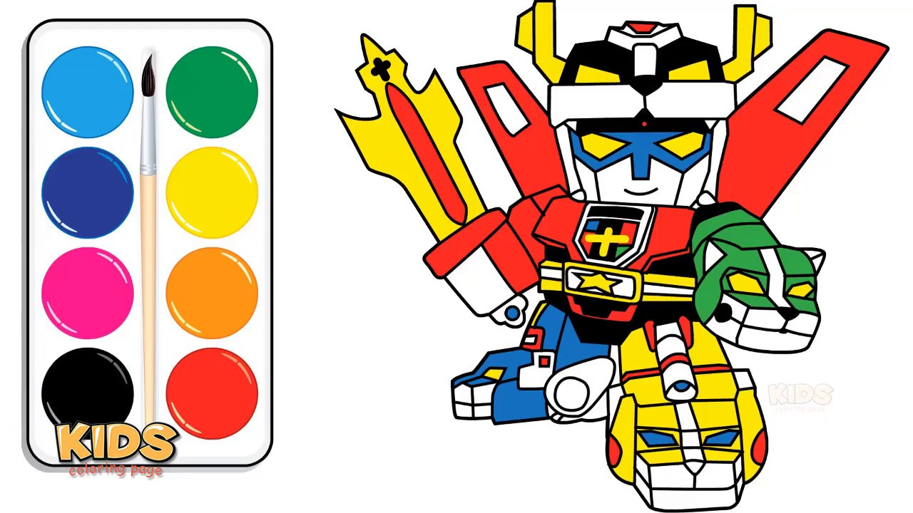 Voltron Legendary Defender In Coloring Pages: How To Draw Voltron Legendary Defender