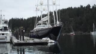 Firestone Family  Super yacht 'Tamsen' visits Salt Spring Island