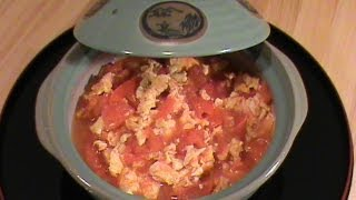 Scrambled Eggs With Tomato -- Quick & Easy Vegetarian Cuisine  By Chinese Home Cooking Weeknight