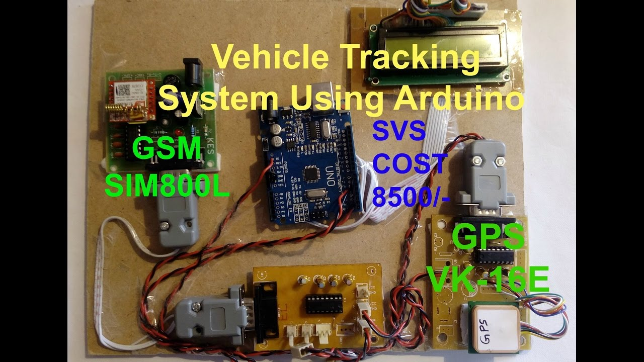 Gps And Gsm Based Vehicle Tracking System Using Arduino Youtube
