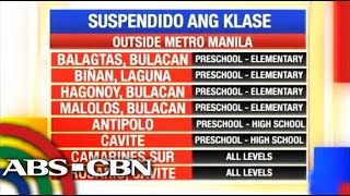 Bandila: Classes suspended as Typhoon Glenda nears