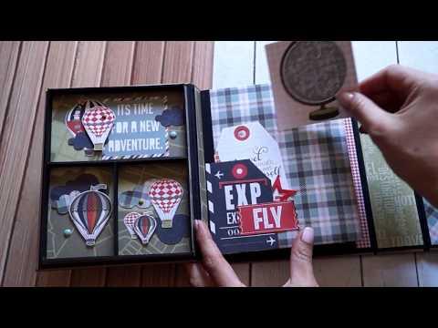 Видеообзор фотоальбома Чемоданное настроение , Photo play boarding pass