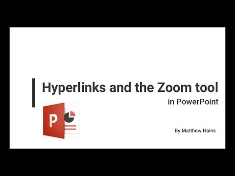 Hyperlinks and Zoom tool in PowerPoint