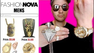 I Bought THE CHEAPEST Rapper Accessories off Fashion Nova MENS! IS IT WORTH IT?!