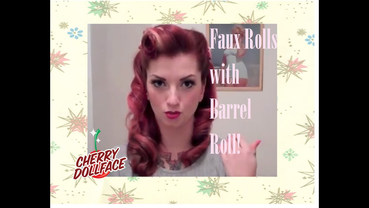 Faux Victory Rolls Vintage Hair Tutorial By Cherry