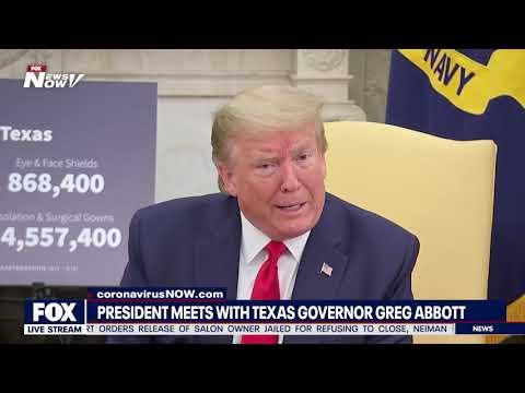 WHITE HOUSE MEETING: President Trump meets with Texas Gov. Greg Abbott