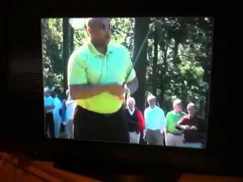 Omg...Charles Barkley breaks club on the first shot!