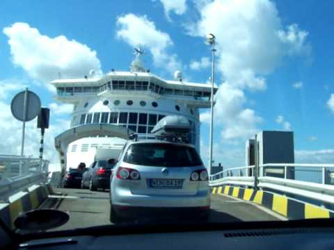 English Channel Ferry Crossing, France to England