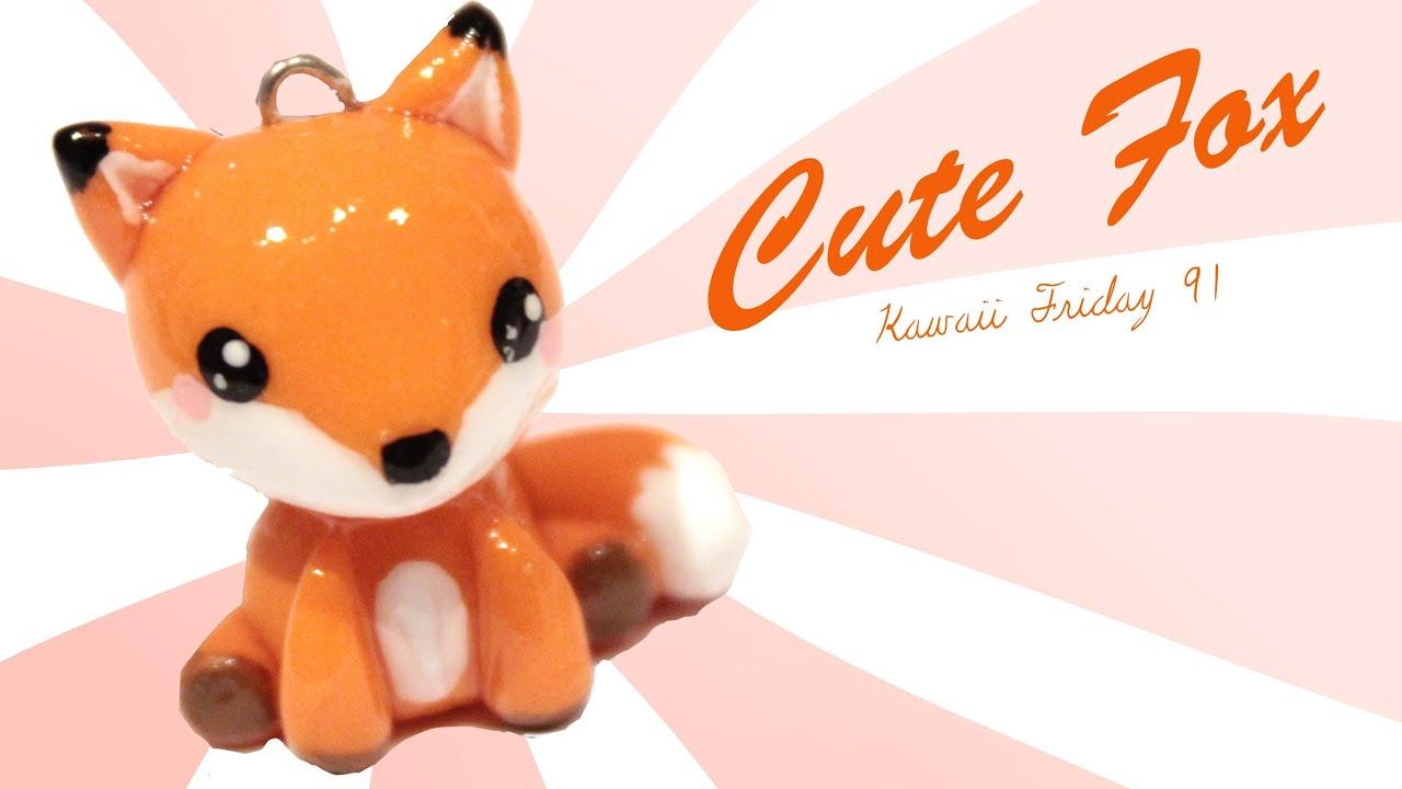Uncategorized Kawaii Fox kawaii friday 91 tutorial in polymer clay youtube
