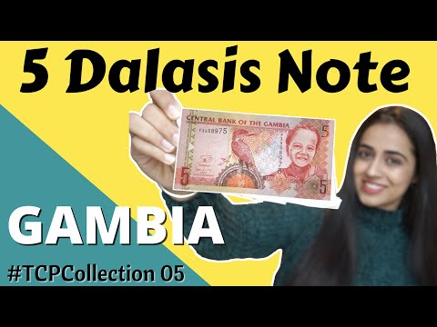 Gambia 5 Dalasis Note Value | Currency Collection | #TCPcollection
