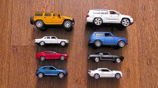Toy Cars of Various Brands and Sizes