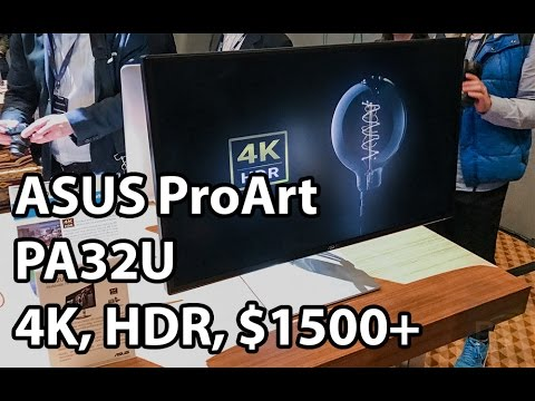 ASUS ProArt PA32U - 4K, HDR, IPS, 1000 nits, $1500+