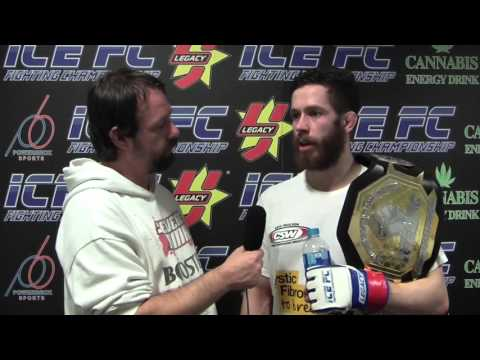 James Cox ICE FC 10 post fight interview & fight highlights