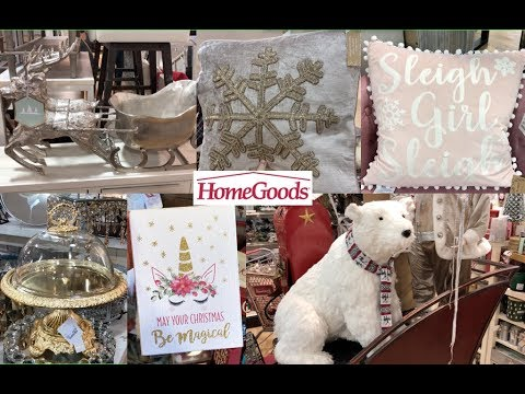 HOMEGOODS CHRISTMAS GLAM DECOR SHOP WITH ME 2018