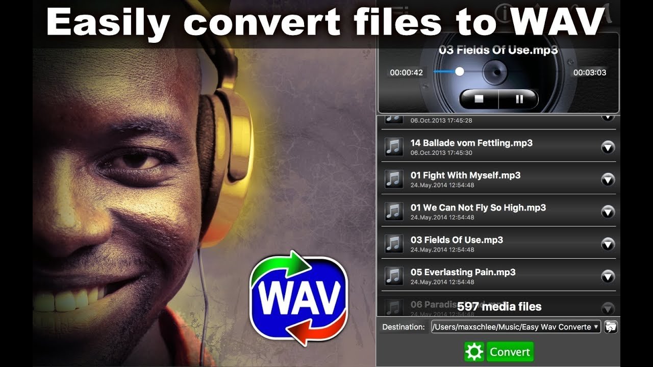Easy WAV Converter App converts audio files of different formats to WAV  format