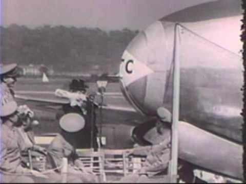 Harry S. Truman — Bess Truman Christens an Ambulance Plane
