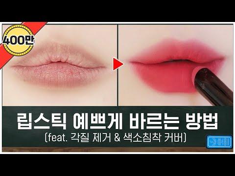 ⭐️립스틱 바르기 총정리⭐️ 각질제거 / 색소침착 / 제형별 립스틱 예쁘게 바르는법  | 뷰티인강