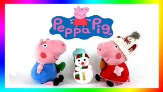 Peppa Pig and Snowman Merry Christmas