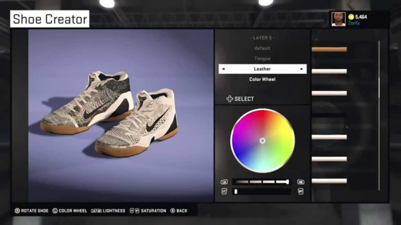 14ed09a75a75 NBA 2K15 Shoe Creator - Nike Kobe 9 Elite Low HTM