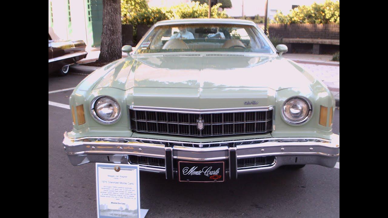 1975 Chevy Monte Carlo Grnwht Lakemirrora101913 Youtube
