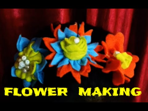 Diy 5 easy flower making video with fomic sheets flower for Fomic sheet decoration youtube