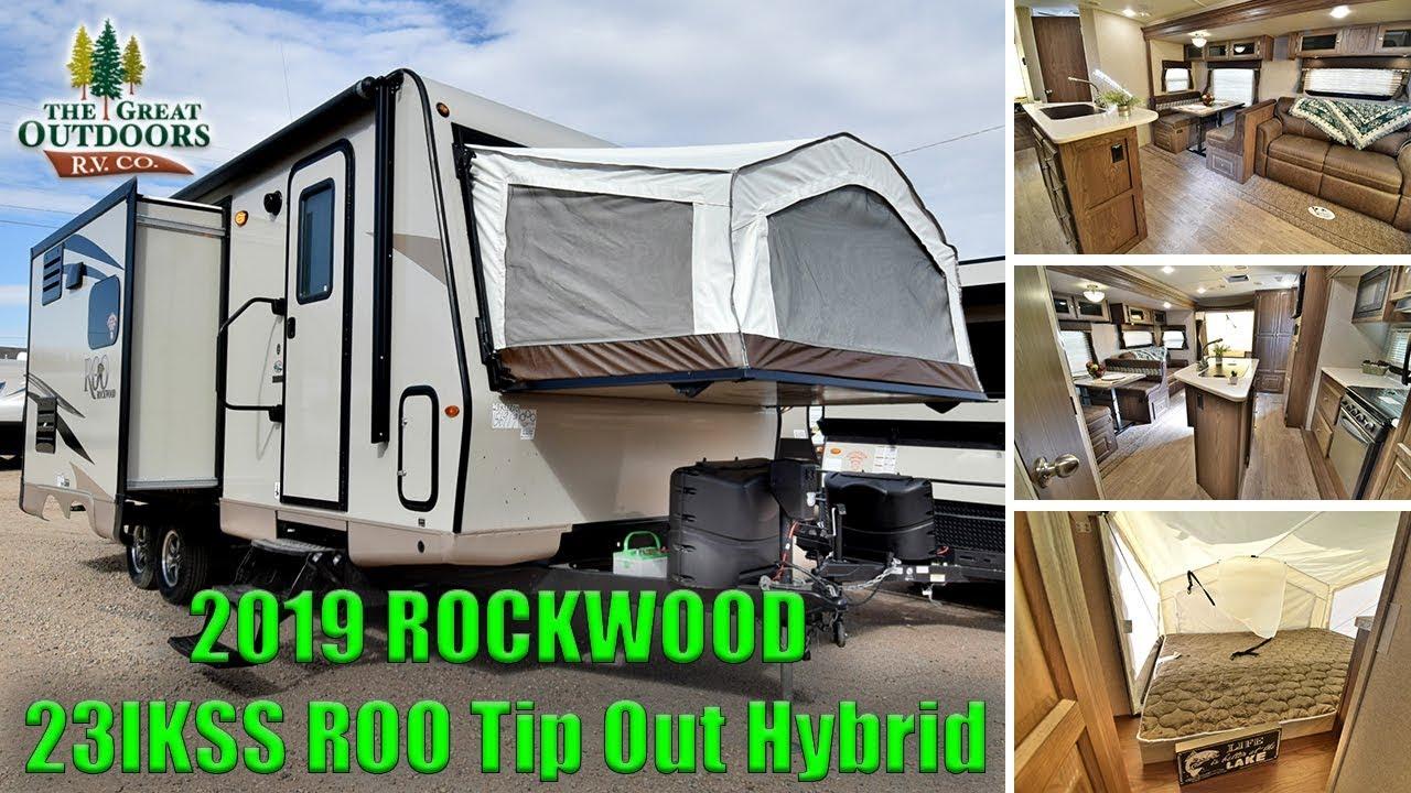 New Tip Out Hybrid 2019 Rockwood 23ikss Roo Travel Trailer Rv Camper Colorado Dealer