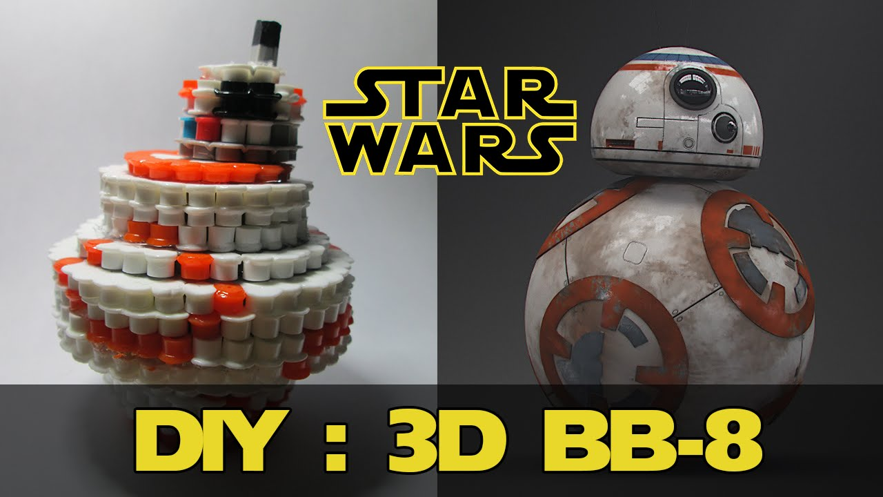 Diy 3d Bb 8 From Star Wars Bead Sprites Perlerhama Beads Youtube