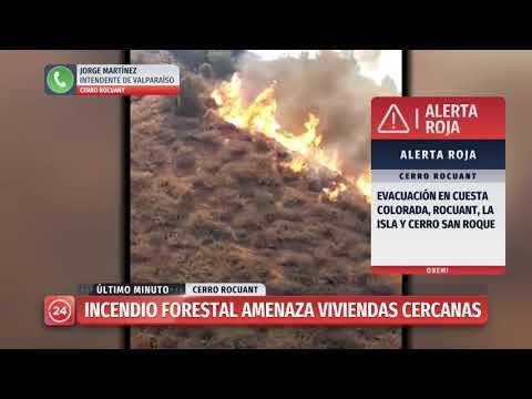 Incendio En Valparaíso: Intendente Señala Que Sería