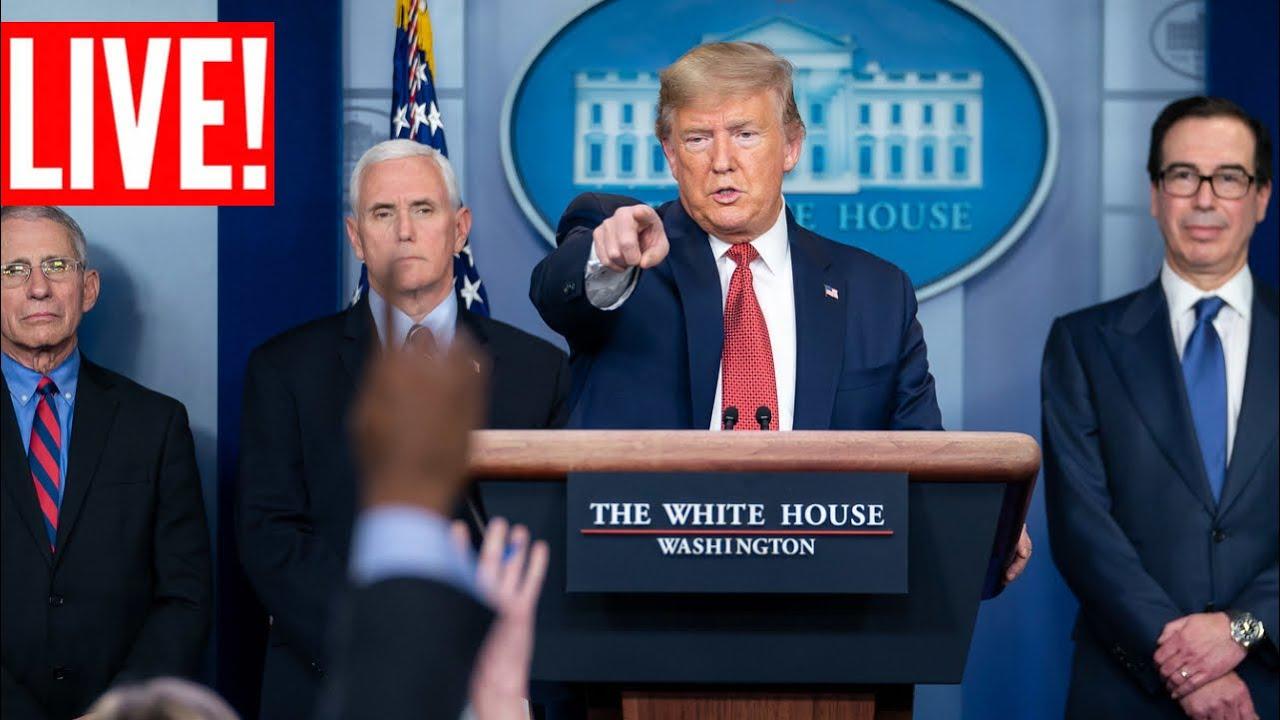 ? LIVE: Trump URGENT White House Coronavirus Press Briefing with Taskforce