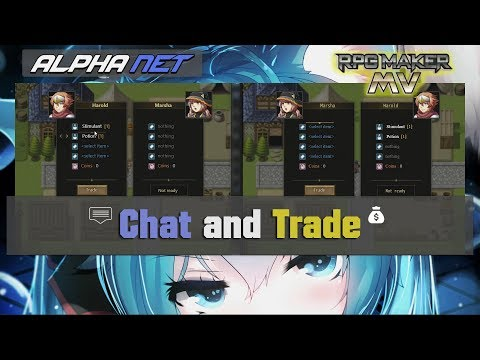 RPG Maker MV Multiplayer Chat And Trade