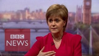 Nicola Sturgeon: SNP won't be a destructive force in Westminster - BBC News