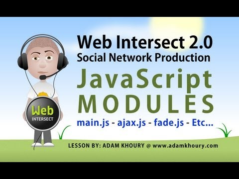 5. Create the Main JavaScript Module and Insert Other Modules Tutorial