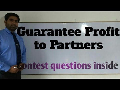 Guarantee profit to partner concept