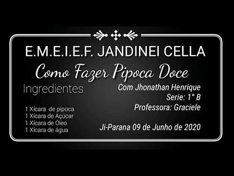 RECEITA DE PIPOCA DOCE - JHONATHAN HENRIQUE