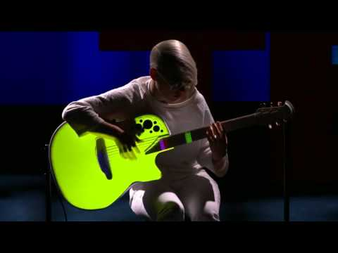 Kaki King TED presentation - A musical escape into a world of light ...