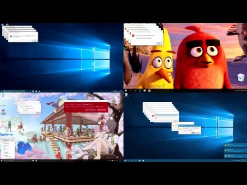 [HD|60FPS] Windows 10 Crazy Error Battle! (4 Videos)