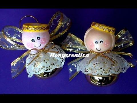 C mo hacer angelitos con cascabel para navidad diy - Crear christmas de navidad ...