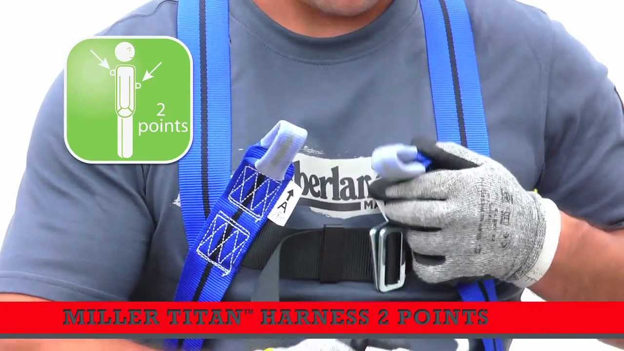 How To Put On A Miller Titan Fall Arrest Harness 2 Points Youtube Roofing Kit